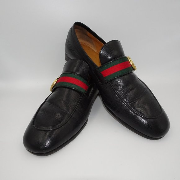 Gucci Shoes   Leather Loafer With Gg